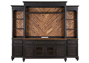 Barnhardt Entertainment Wall Unit