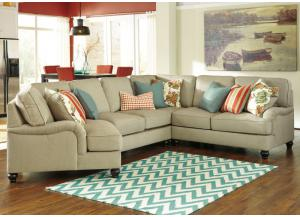 Kerridon Putty Left Arm Facing Cuddler End Sectional