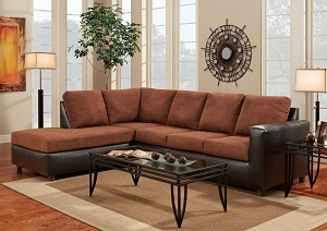 Aruba Chocolate 2 Piece Sectional