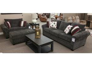 Quincy Rolled Arm Sofa (Lifetime Warranty)