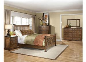 Oak Park King Mission Bed,Intercon