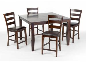 Kona Counter Height Table with 4 Stools,Intercon