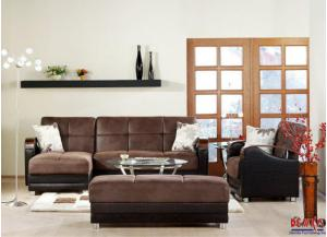 Luna Silverado Chocolate Sectional Sleeper