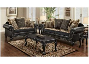 Victorian Ebony Sofa and Love Seat,Promotional Specials