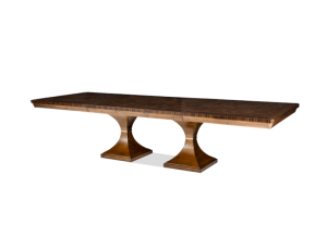 Aico Cloche Rectangular Double Pedestal Dining Table