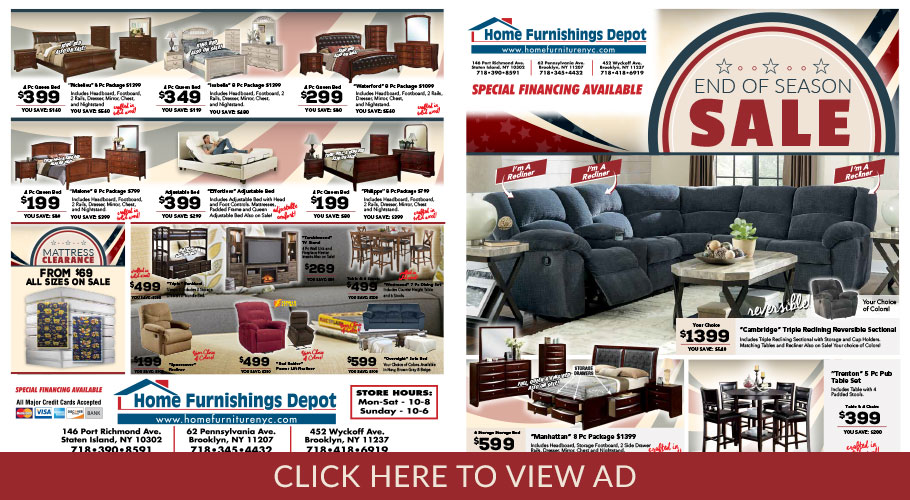Home Furnishings Depot Brooklyn Staten Island Ny