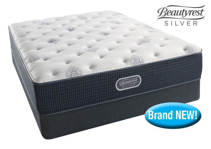 Simmons Beautyrest Silver Orange Beach mattress set! - queen,In-Store Products