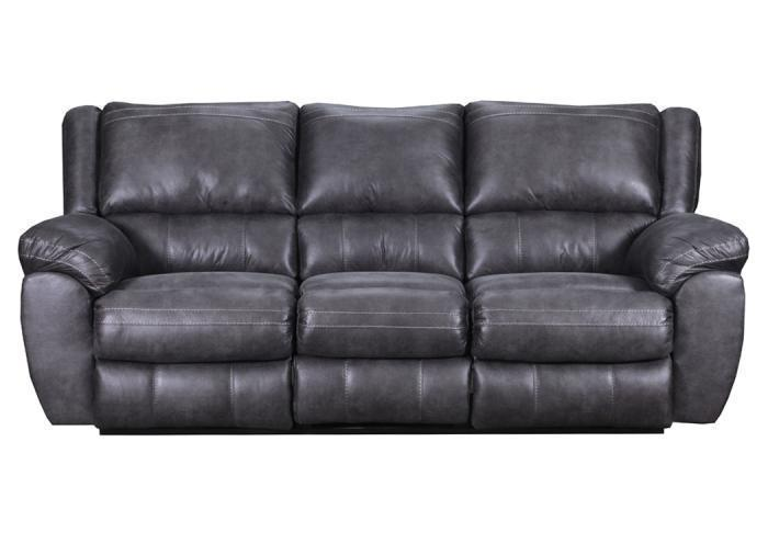 Shiloh reclining sofa - gray