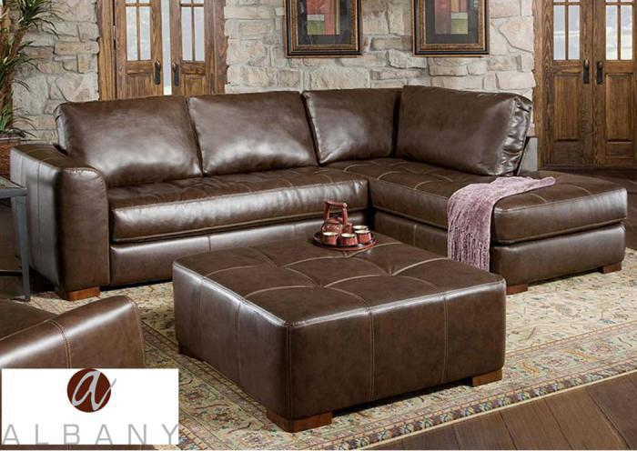 Metropolis Chaise Sectional - Brown,In-Store Products