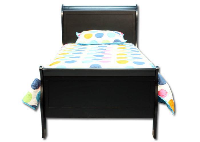 Louis Philip Twin Bed - Black,In-Store Products