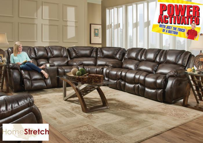 Randolph POWER sectional - chocolate,In-Store Products