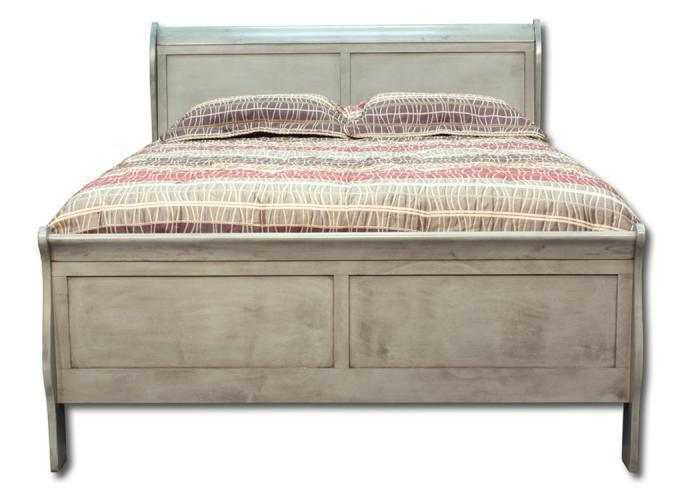 Louis Philippe king bed - gray,In-Store Products