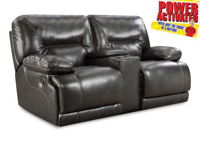 Hilman Power Reclining Loveseat - Grey,In-Store Products