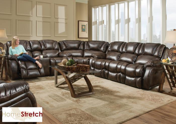 Randolph sectional - chocolate,In-Store Products
