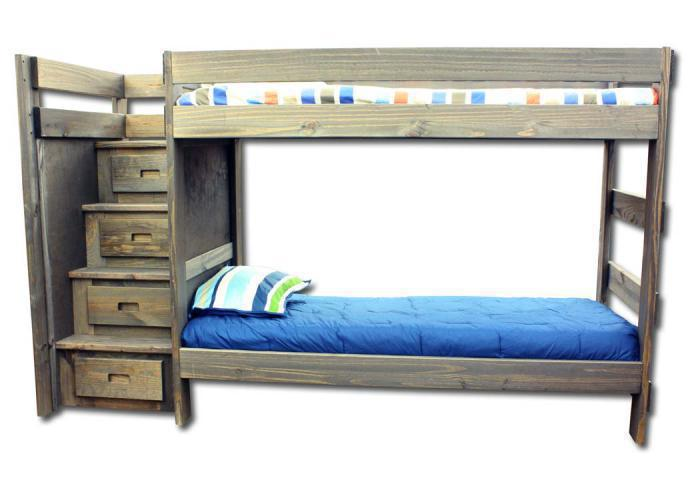 Duncan Twin/ Twin Staircase Bunk bed - Walnut,In-Store Products