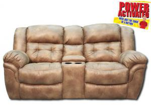 Oxford POWER reclining loveseat - almond
