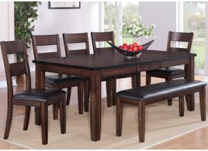 Belle Noir 6 Pc Dining