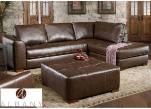 Metropolis Chaise Sectional - Brown