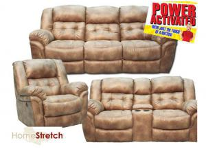 Oxford Power Reclining Collection - Almond
