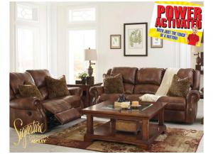 Walworth Power Reclining Collection - Light Brown