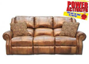 Walworth Power Reclining Sofa - Light Brown