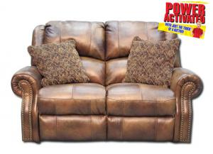 Walworth Power Reclining Loveseat - Light Brown