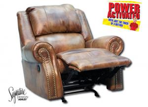 Walworth Power Rocker Recliner - Light Brown