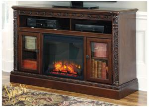 North Shore TV Console With Fireplace