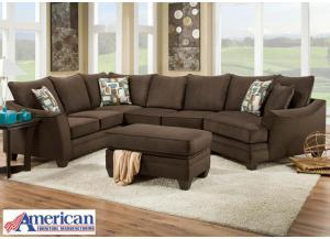 Flannel Sectional - Espresso