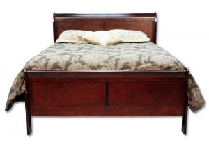 Louis Philip Queen Bed - Cherry