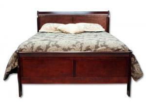 Louis Philip King Bed - Cherry