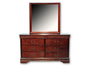 Louis Philip Dresser/Mirror - Cherry