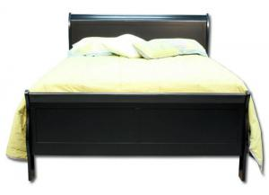 Louis Philip Queen Bed - Black