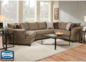Hudson sectional - truffle