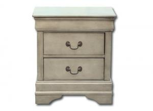 Louis Philippe nightstand - gray