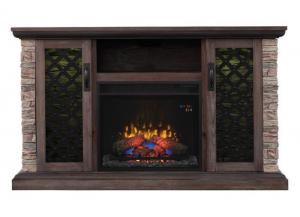 Captain TV console with fireplace