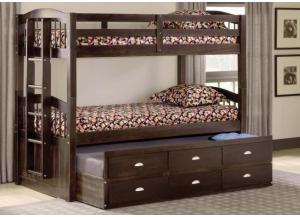 Maddock twin/ twin captain's bunk bed