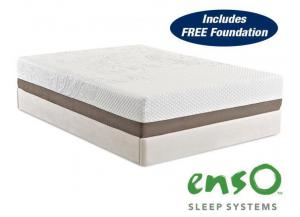 Strata Memory Foam Queen Mattress with FREE Foundation!