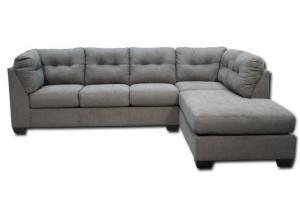Maier Right Chaise-Style Sectional - Steel