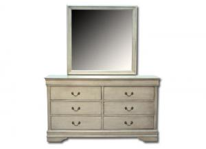 Louis Philippe dresser/ mirror - gray
