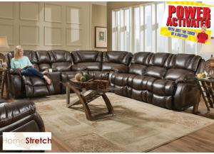 Randolph POWER sectional - chocolate