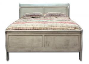 Louis Philippe king bed - gray