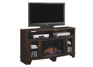 LaSalle TV console with fireplace