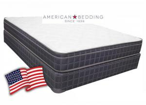 American Bedding Justice Euro Top Queen Set