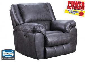 Shiloh POWER rocker recliner - gray