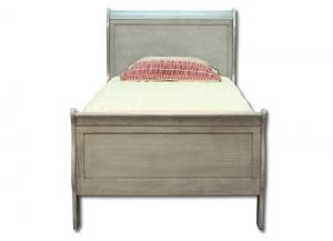 Louis Philippe twin bed - gray