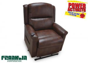 Province lift recliner - chocolate
