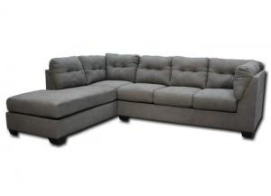 Maier Left Chaise-Style Sectional - Steel