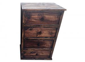 Solid Wood 4-Drawer Chest! Dark