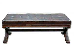 Brittany ottoman - brown